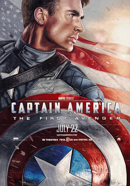 captain america: the first avenger-film poster - filmplakate stock-fotos und bilder