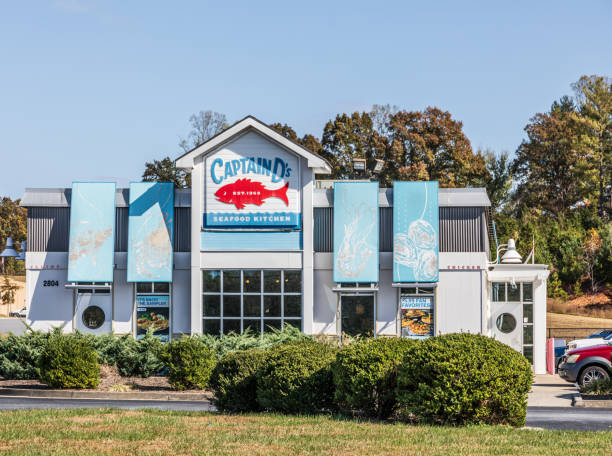 Captain D's Seafood Restaurant, Hudson stock photo
