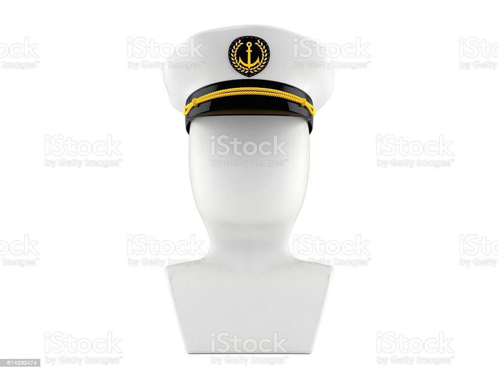 Captain icon stock photo