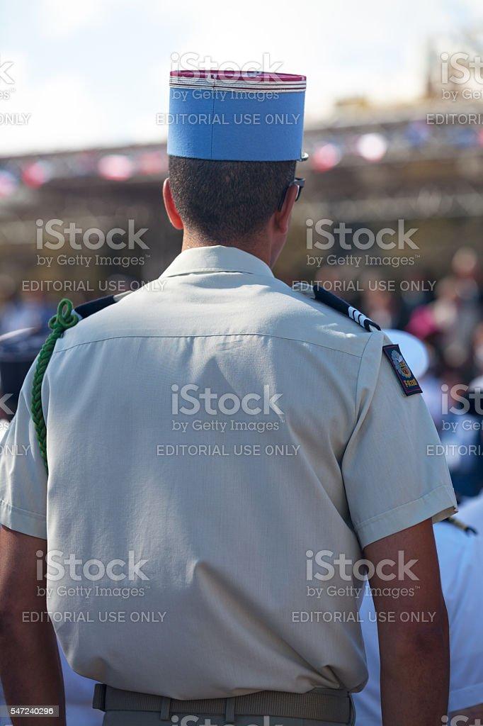 Captain of the Gendarmerie de l'Air stock photo