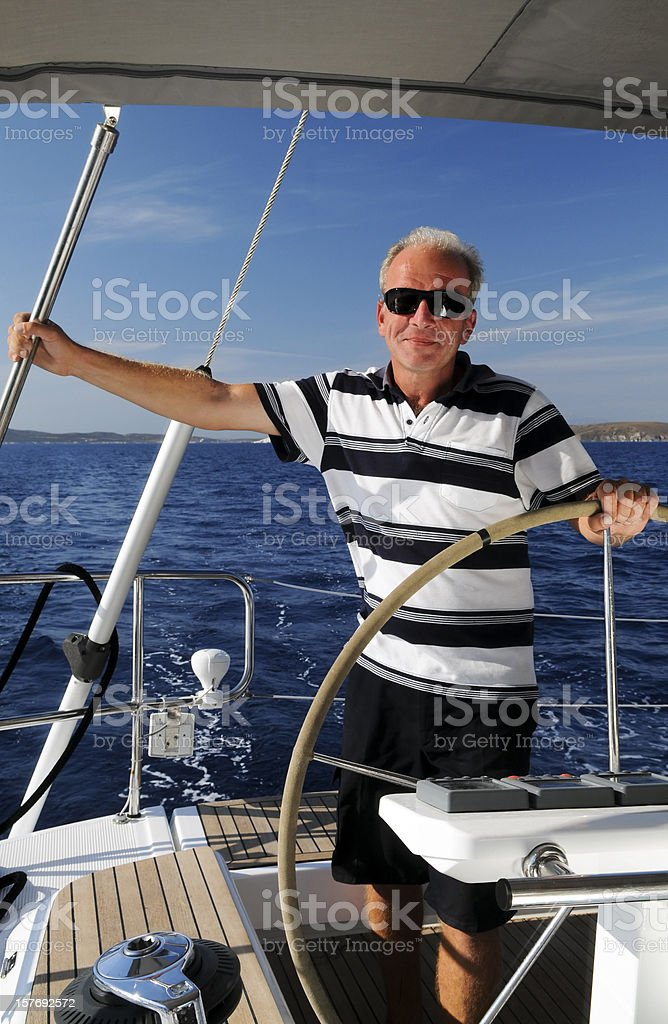 Captain of the yacht royalty-free stock photo