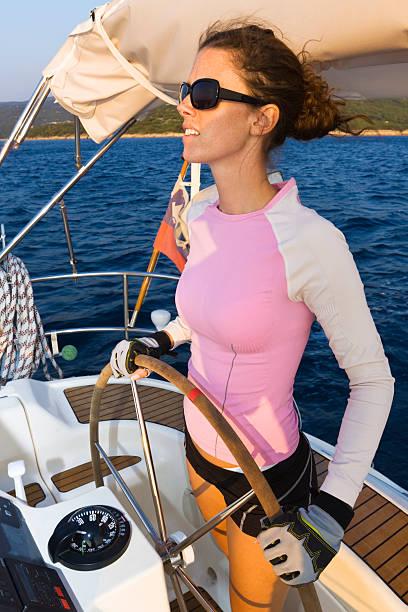 kapitän - segelhandschuhe stock-fotos und bilder