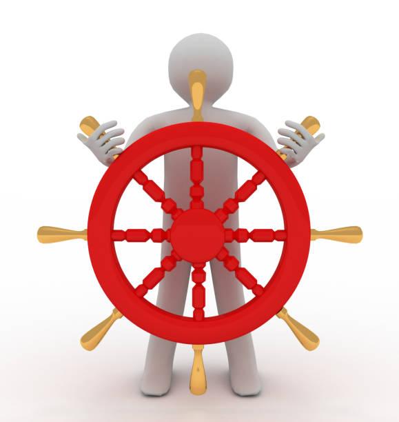 capitán dirigiendo la rueda - sequence animation fotografías e imágenes de stock