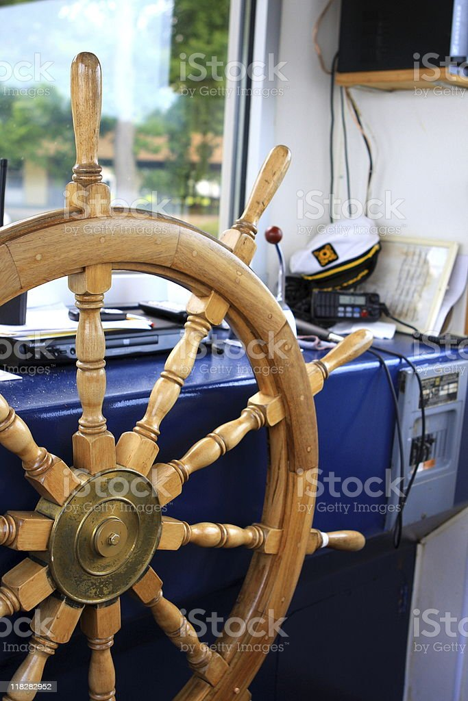 Captain wheel royalty-free stock photo