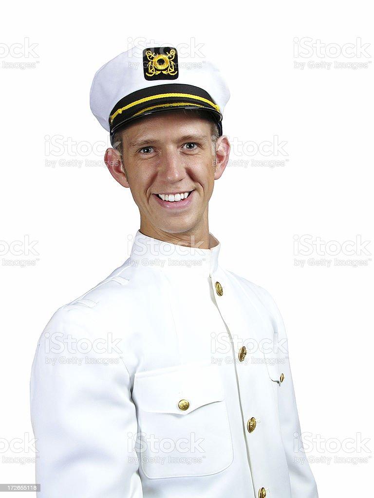 Captain White stock photo