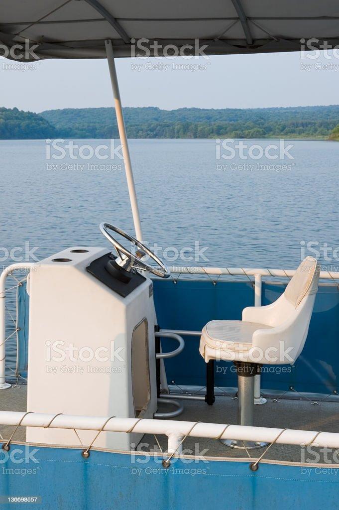 Captain s fauteuil, bateau ponton Place du conducteur - Photo