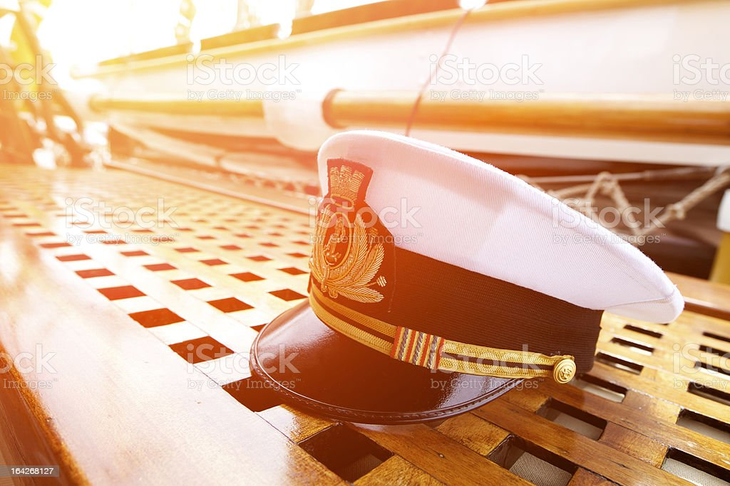 Captain's Hat At Susnet stock photo