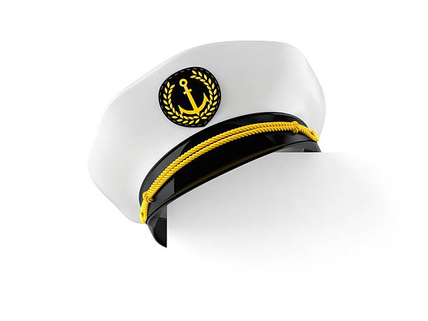 Captain's hat Captain's hat isolated on white background sailor stock pictures, royalty-free photos & images