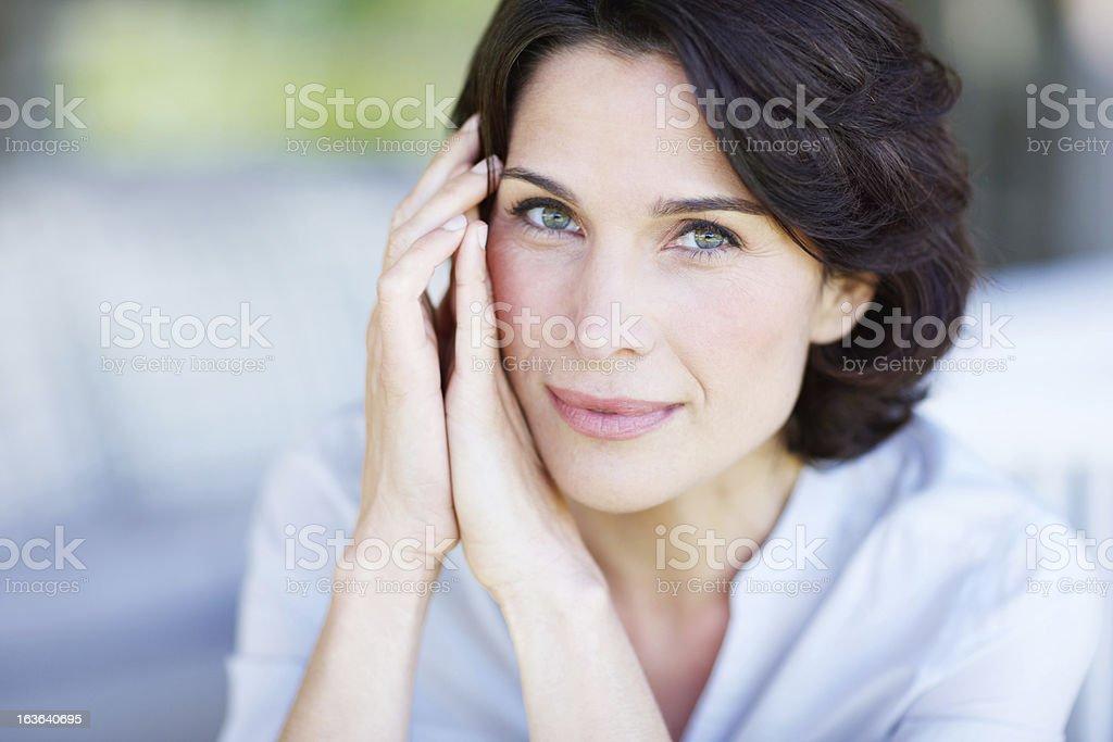 Captivating gaze stock photo