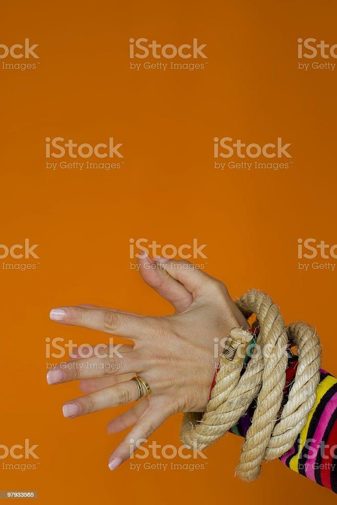 Captive Woman 2 royalty-free stock photo
