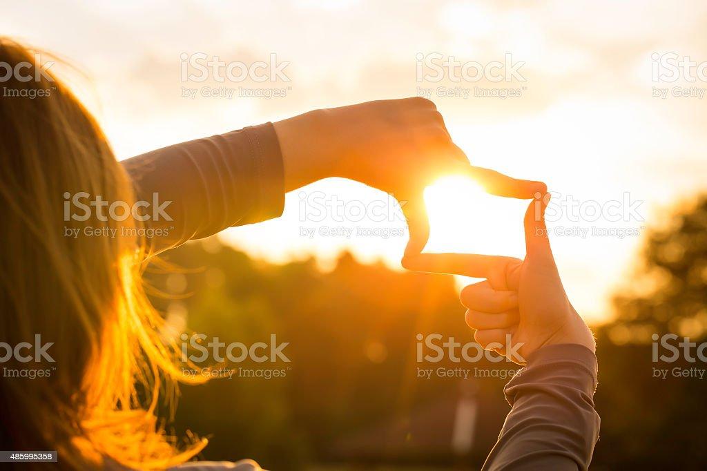 Rejestrowanie Zachód słońca zbiór zdjęć royalty-free