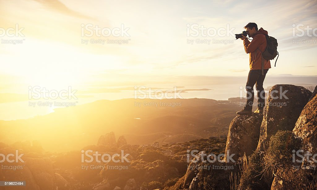 Capturing a beautiful view stock photo