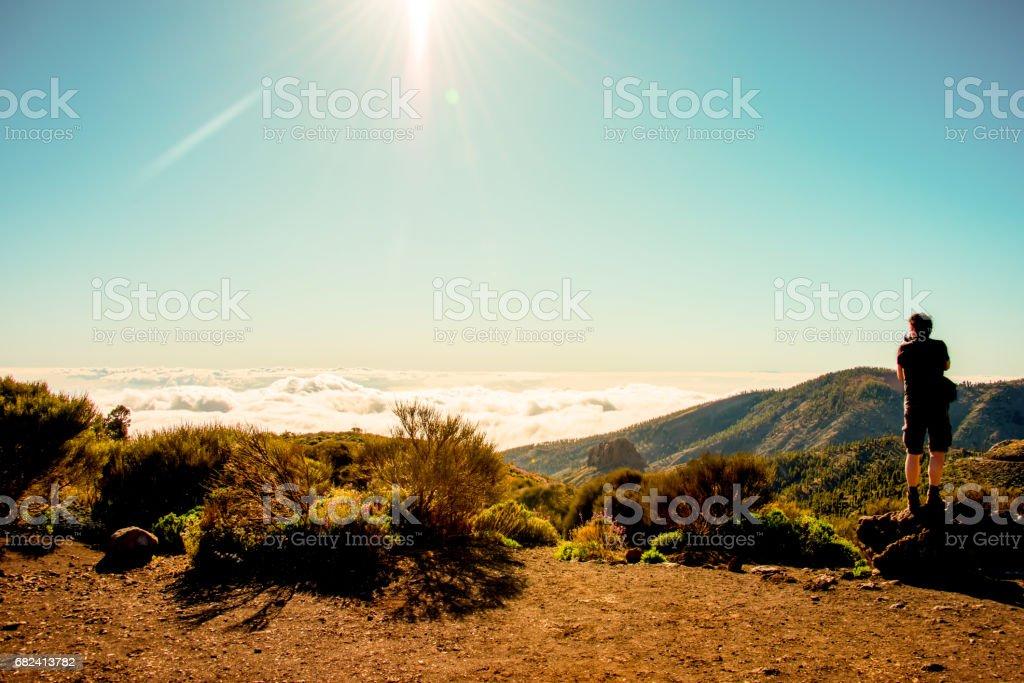 Capturing a beautiful view stock photo
