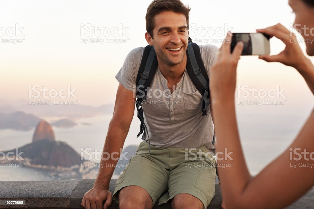 Capturing a memory royalty-free stock photo