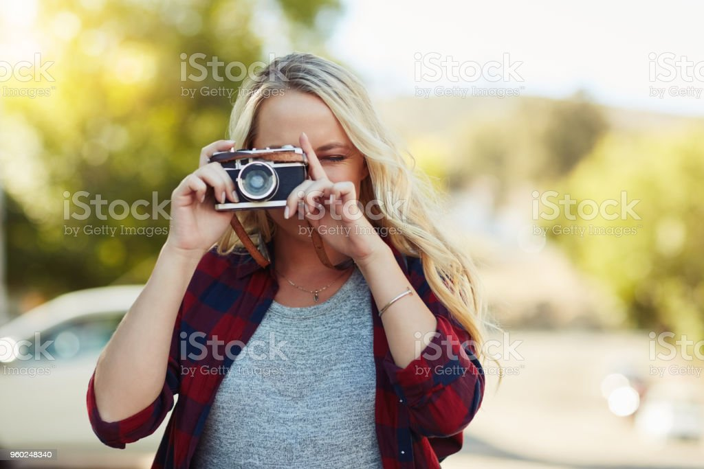 Capturing all the beauty of being somewhere new stock photo