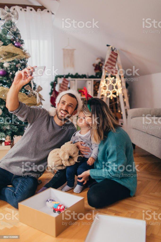 Capturing Christmas memories royalty-free stock photo