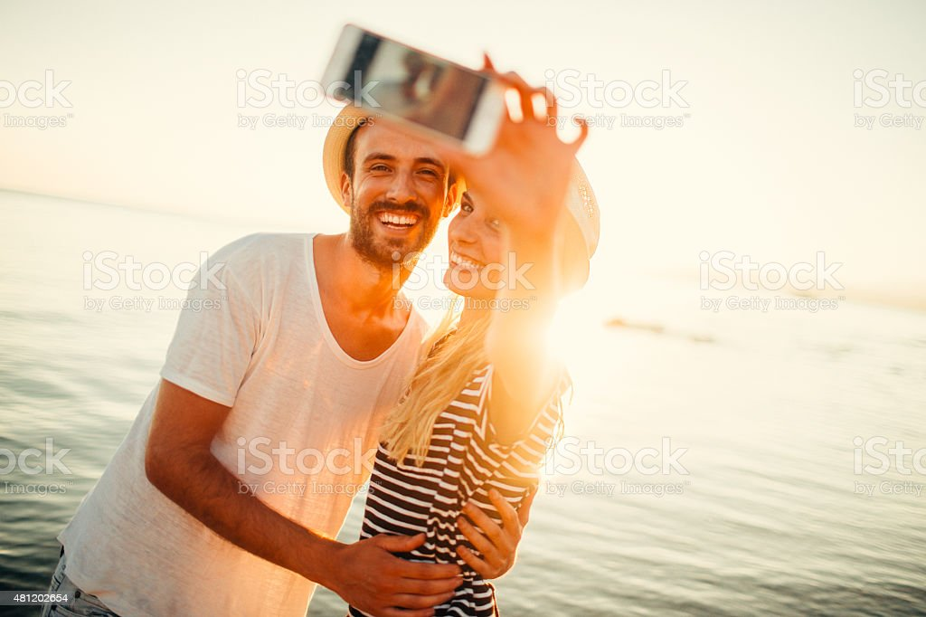 Capturing our love stock photo