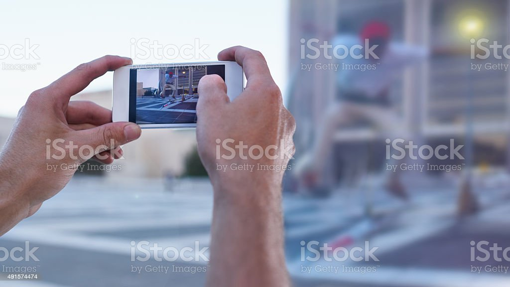 Capturing real life moments stock photo