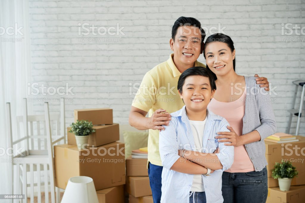 Capturing Relocation in New Apartment royalty-free stock photo