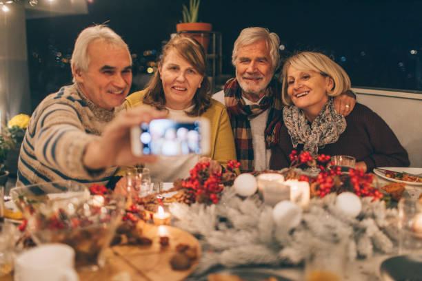 Capturing Thanksgiving memories stock photo