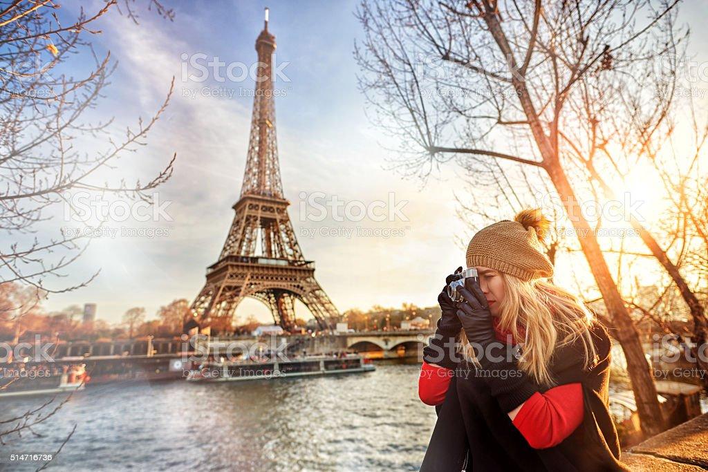 capturing the beautiful Paris stock photo