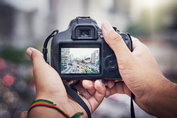 Capturing the chaos of the city stock photo