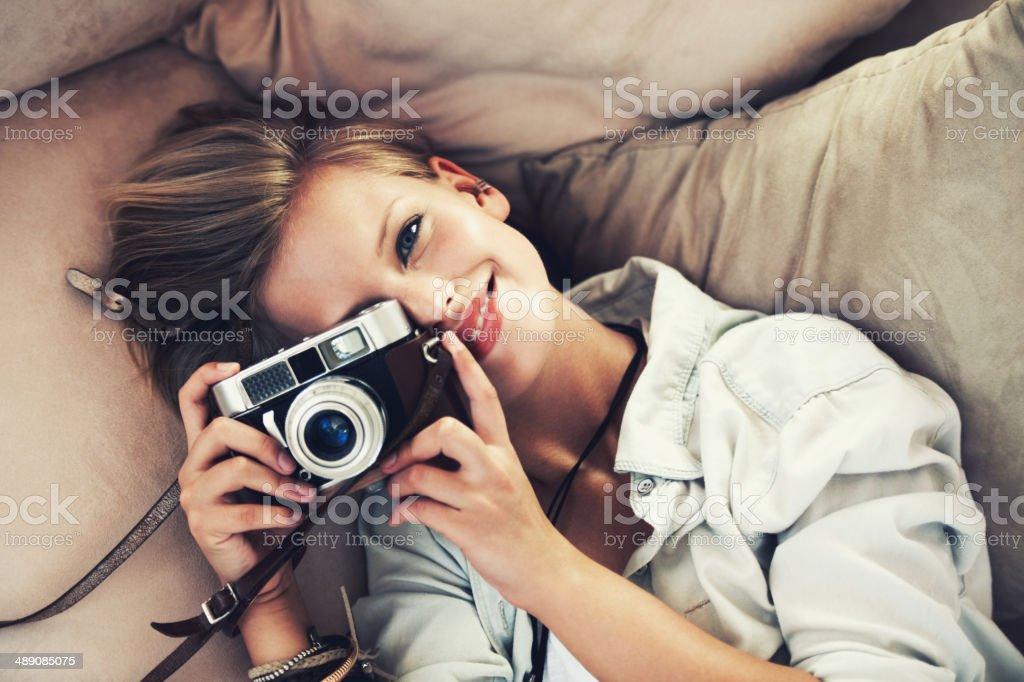 Capturar este momento a hacer una memoria - foto de stock