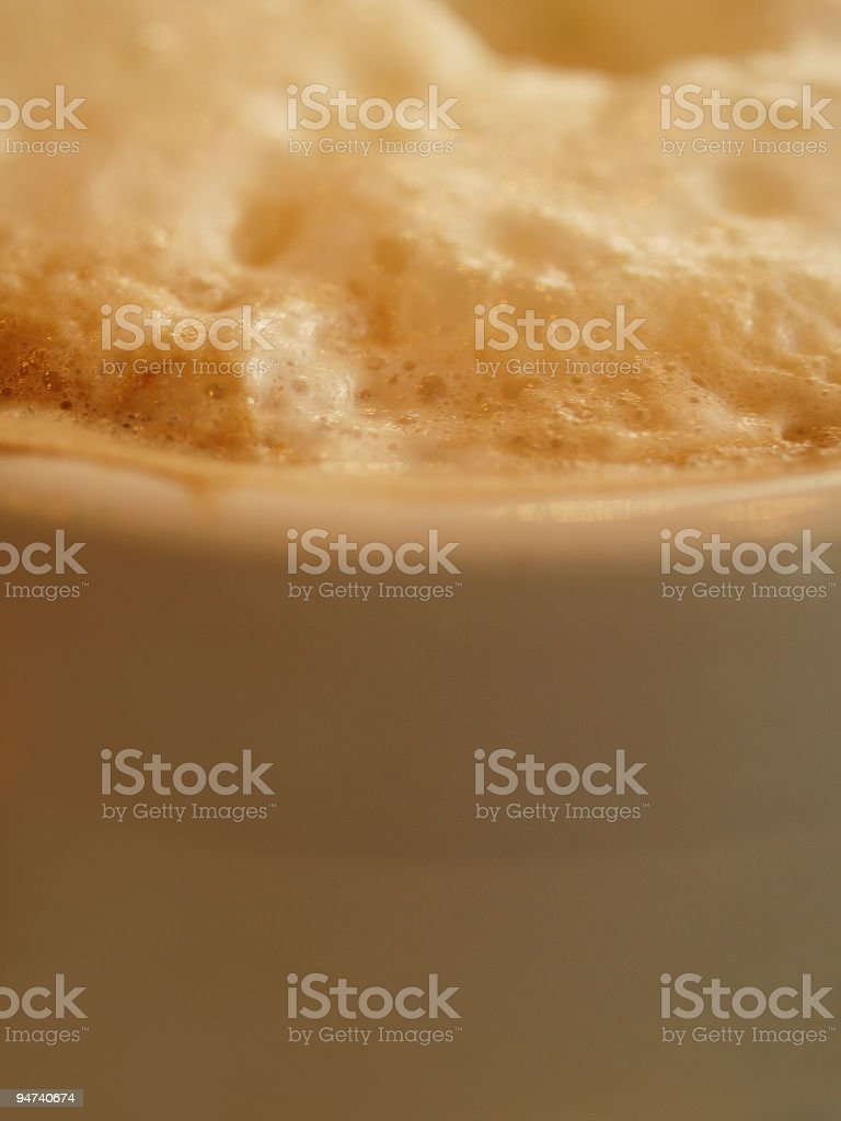 Capuccino Foam royalty-free stock photo