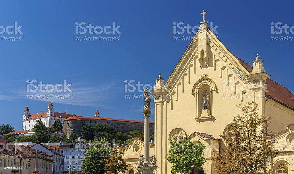 Capuchin Church in Bratislava - Slovakia royalty-free stock photo