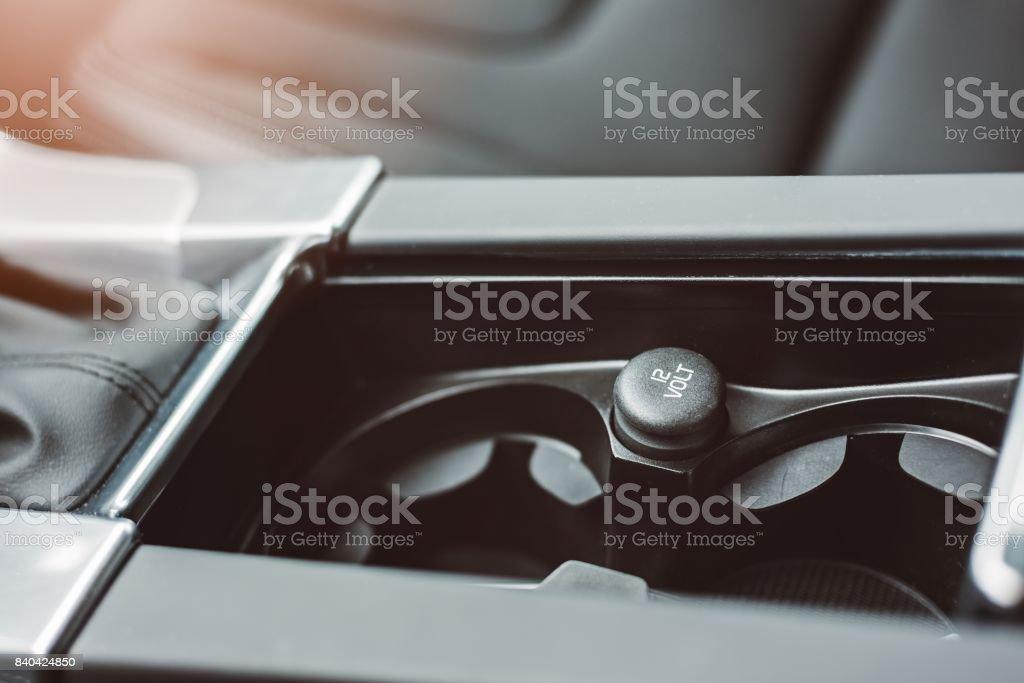 Car 12 volt outlet. stock photo