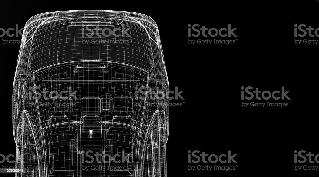 Car 3D model royalty-free stock photo