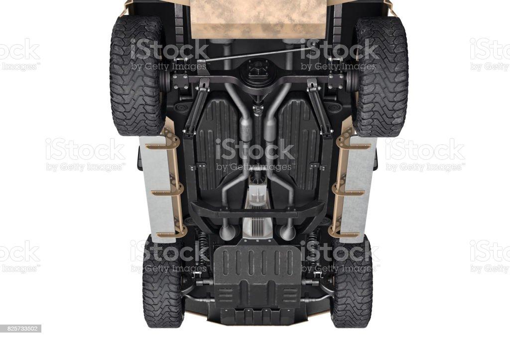 Car 4wd suspension stock photo