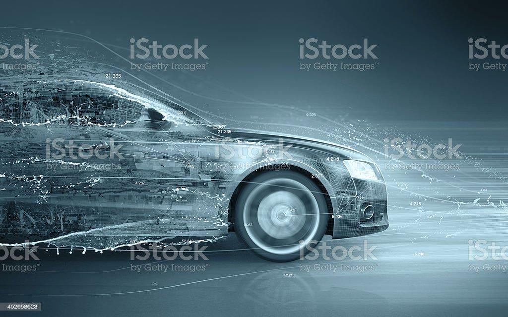 car abstract concept stock photo