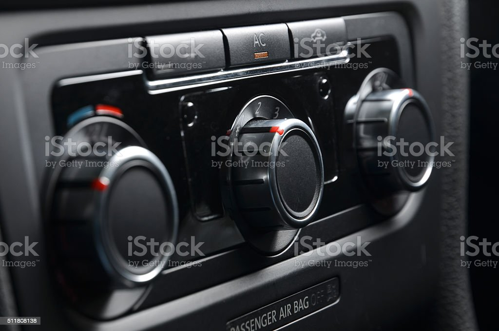 car ac air conditioning stock photo