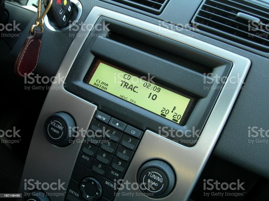 Car A/C controlling system 01 royalty-free stock photo