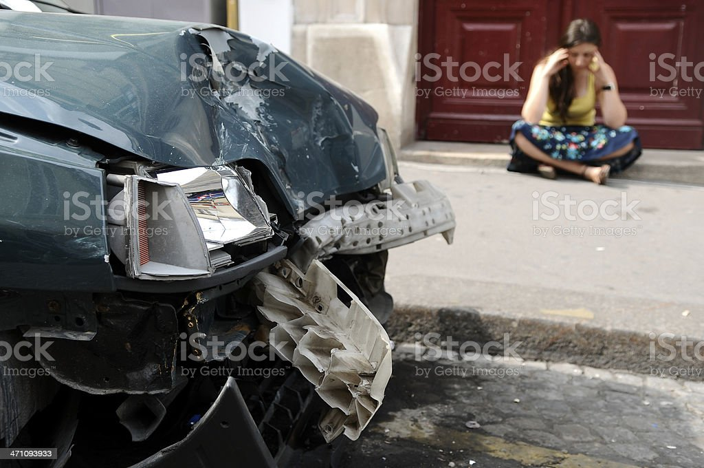 car accident and crash stock photo