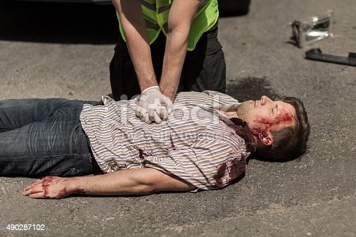 istock Car accident casualty 490287102