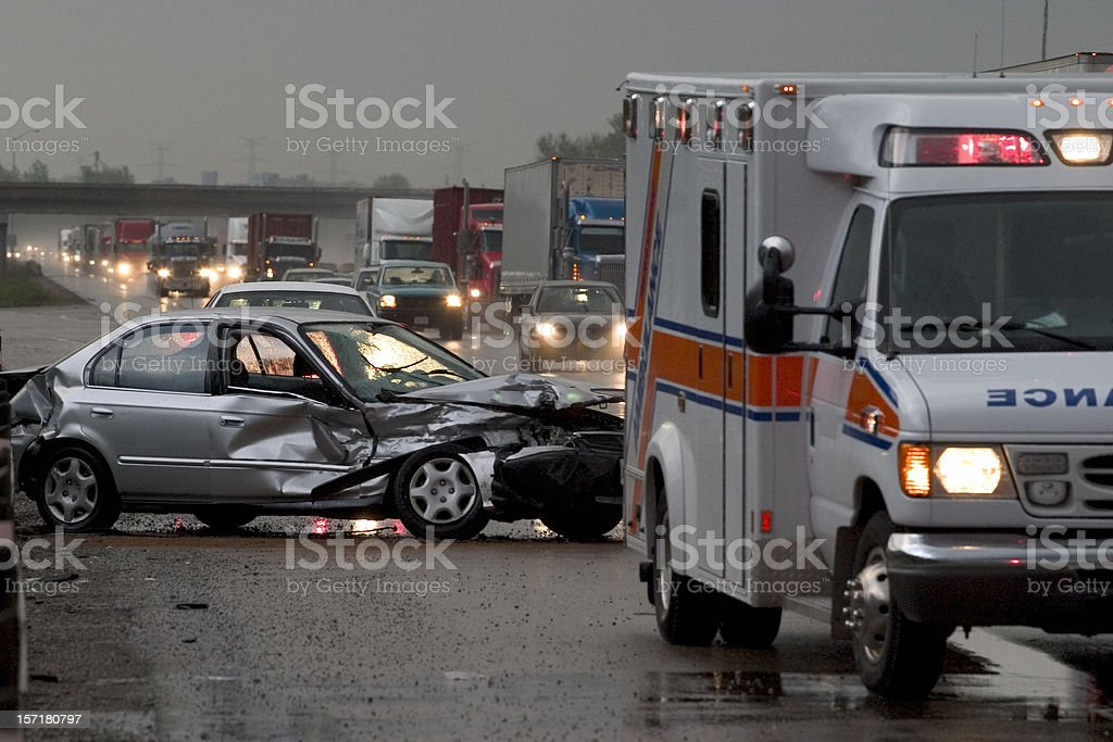 Car  Accident  Crash stock photo