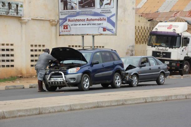 Accident de voiture à Lomé, Togo, Afrique de l'ouest - Photo