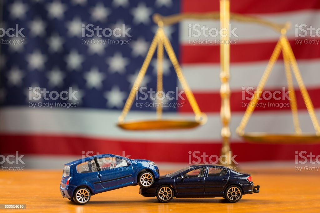 Car accident need to justice in case can not negotiations stock photo