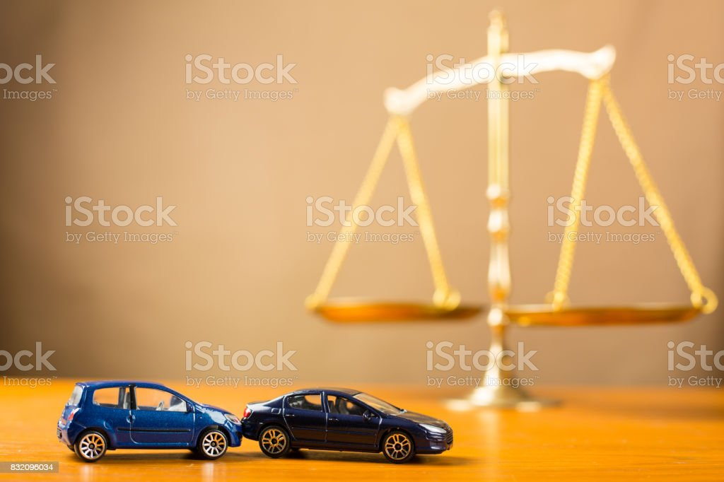 Car accident need to justice stock photo