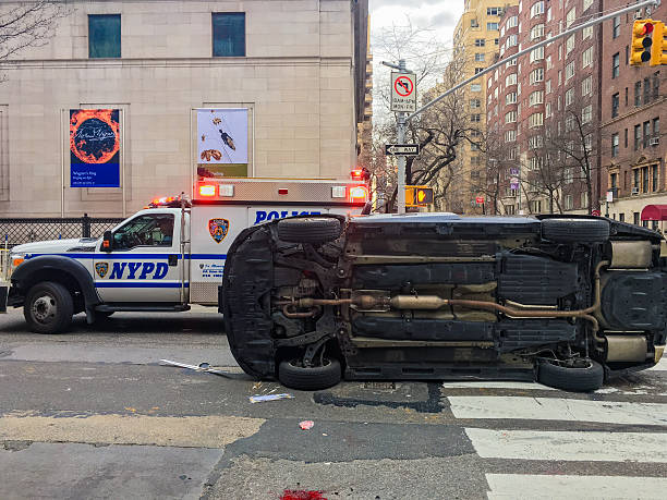 Car Accident Nyc Usa Stock Photo - Download Image Now - iStock