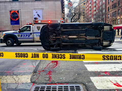 Car Accident Nyc Usa Stock Photo & More Pictures of Alloy