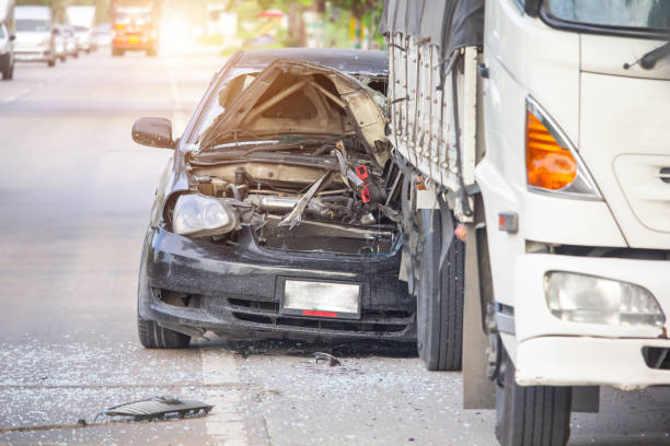 car accident on the road, automobile transportation dangerous on street, Insurance claim. Car accident on the road, automobile transportation dangerous on street, insurance claim. crash stock pictures, royalty-free photos & images