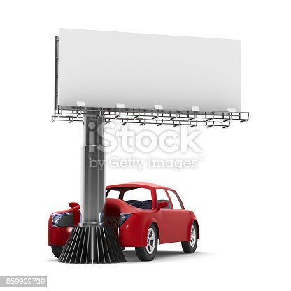 istock car accident on white background. Isolated 3d illustration 859962736