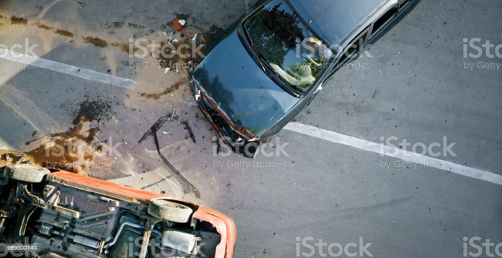 Accidente de coche - foto de stock