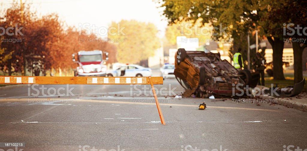 Car accident scene royalty-free stock photo