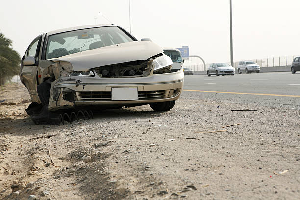 Car Accident Series 1 stock photo