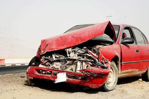 car accident series - krockad bil bildbanksfoton och bilder