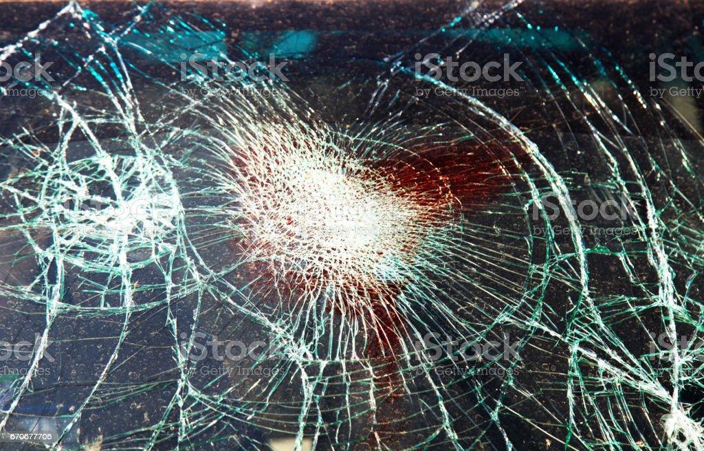 Car Accidental window stock photo